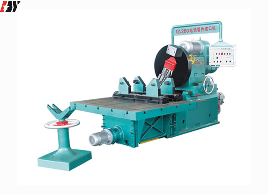 Q1280 Electric Beveller Type Automatic Beveling Machine For Steel Elbow Or Tee