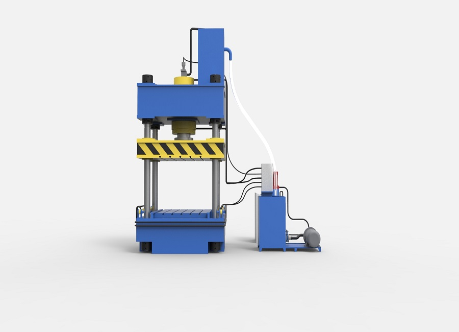 Four column elbow calibration hydraulic press